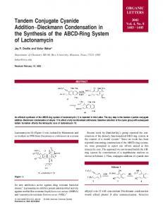Tandem Conjugate Cyanide Addition−Dieckmann Condensation in