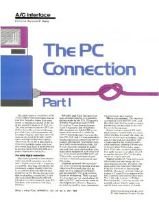 The PC Connection - Analytical Chemistry (ACS Publications)