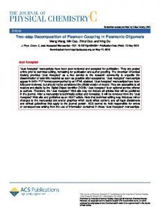 Two-Step Decomposition of Plasmon Coupling in Plasmonic