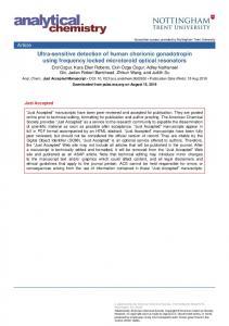 Ultra-sensitive detection of human chorionic gonadotropin using